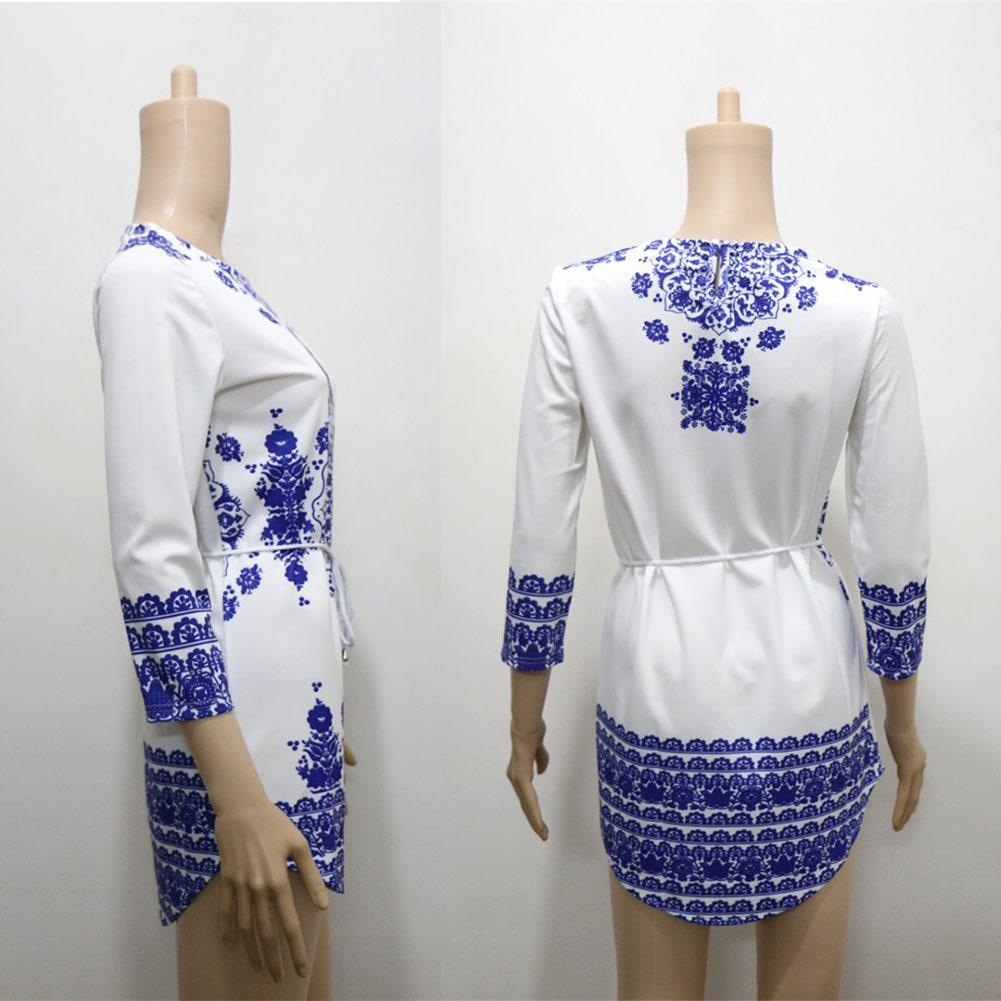 New new women long sleeve blue and white vintage porcelain flower new new women long sleeve blue and white vintage porcelain flower blouse dress 2018 hot sale in dresses from womens clothing accessories on izmirmasajfo