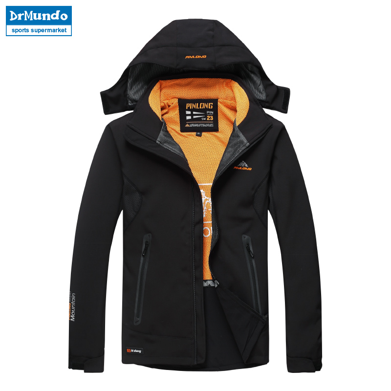 Outdoor Softshell Jacket Waterproof Men Hiking Jackets Windproof Camping Thermal Windbreaker Coat Warm Fleece Trekking Jacket detector outdoor women climbing camping hiking jacket waterproof windproof thermal windbreaker spring autumn warm coat