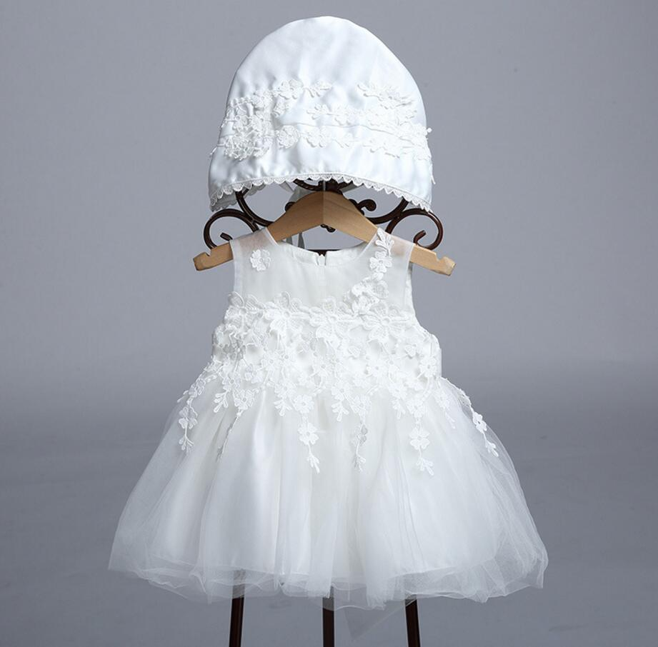 Flower Baby Girl Christening Wedding Party Pageant Lace Dress Newborn Infant First Communion Dresses Toddler Gown For BabyHB3032