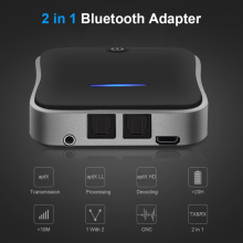 Wireless Audio Adapter Bluetooth 5.0 Transmitter Receiver CSR8675 APTX HD LL Bt Audio Music AUX Jack/SPDIF/RCA for TV PC Car csr8675 bluetooth 5 0 wireless bluetooth audio transmitter coaxial optical fiber analog input lossless music audio transmission
