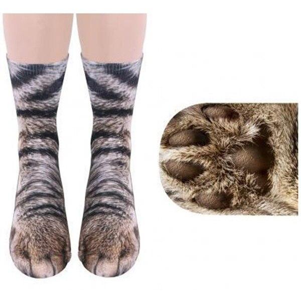 1 Pair Unisex Elastic Soft Socks Breathable 3D Printed Animal Foot Claw Hoof Paw Sock Tiger Dog Cat Dinosaur Claw Socks