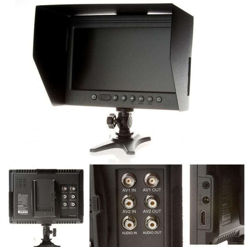 """bilder für F & v dof f1 7 """"hdmi lcd auf kamera monitor mit sonnenschutz für canon nikon sony panasonic bmcc bmpcc dslr kameras kostenloser versand"""
