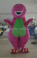 new Mascot Costume High quality Adult Barney Cartoon Mascot Costumes on Adult Size Free Shipping