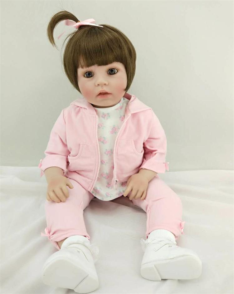 New Silicone Reborn Baby Doll Toys Lovely Princess Babies Soft Vinyl Toddler Dolls Birthday Christmas Gifts Girls Brinquedos 55 cm 22 inch silicone reborn baby doll soft vinyl girls christmas baby toys birthday gifts