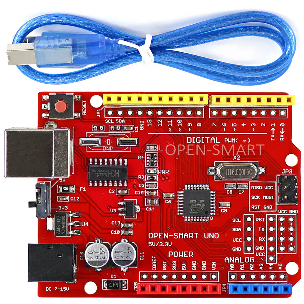 One Set UNO R3 (CH340G) ATMEGA328P Development Board with USB Cable - Industrial Computers and Accessories