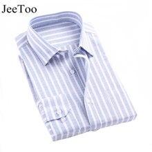 2017 Men Shirts Long Sleeve Mens Casual Dress Shirts Striped Plaid Mens Oxford Shirt Plus Size