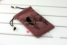 drawstring velvet jewelry bags for gifts necklace watch mobile phone mobile HDD accessories pouch bags custom