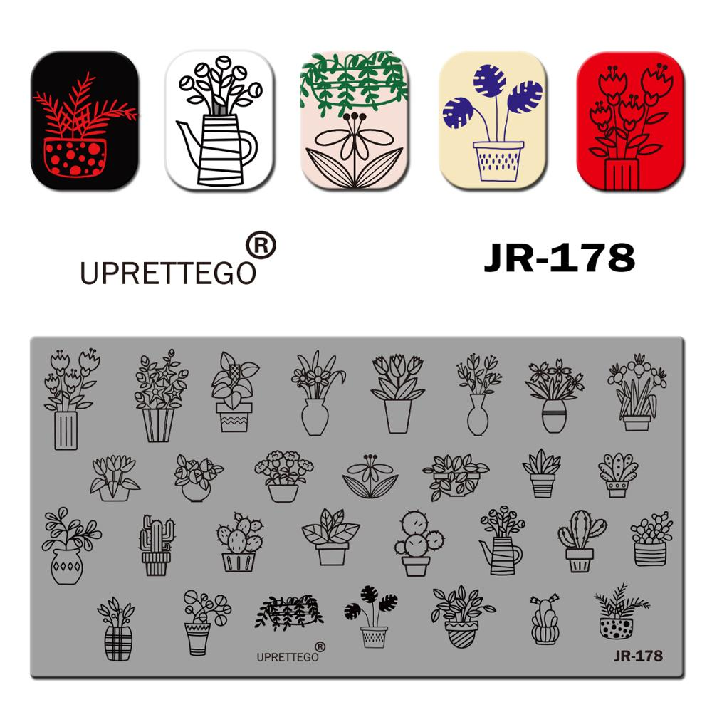 Image 4 - 2019 Stainless Steel Stamping Plate Template English Phrase Geometry Lady Vintage Floral Linear Animal Nail Tool JR171 180-in Nail Art Templates from Beauty & Health