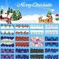 Nuevo 12 Estilos Tatuajes de Transferencia de Agua Del Clavo Etiquetas Engomadas Del Arte de La Cubierta Completa de Navidad Copo de Nieve y Las Estrellas DIY Decoración Para NAVIDAD BN205-216