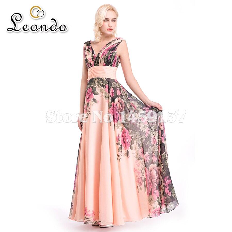 thepron.ru Formal dress v cuello de la gasa vestidos de baile imprimir piso-longitud  vestidos de