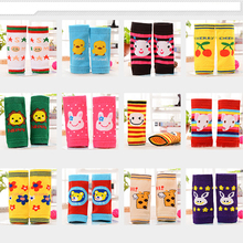 Baby Boys Girls Safety Knee Pads Kids Infant Soft Leggings Cotton Cartoon Leg Warmers Knee Pads Children Knee Protector for 0-3Y