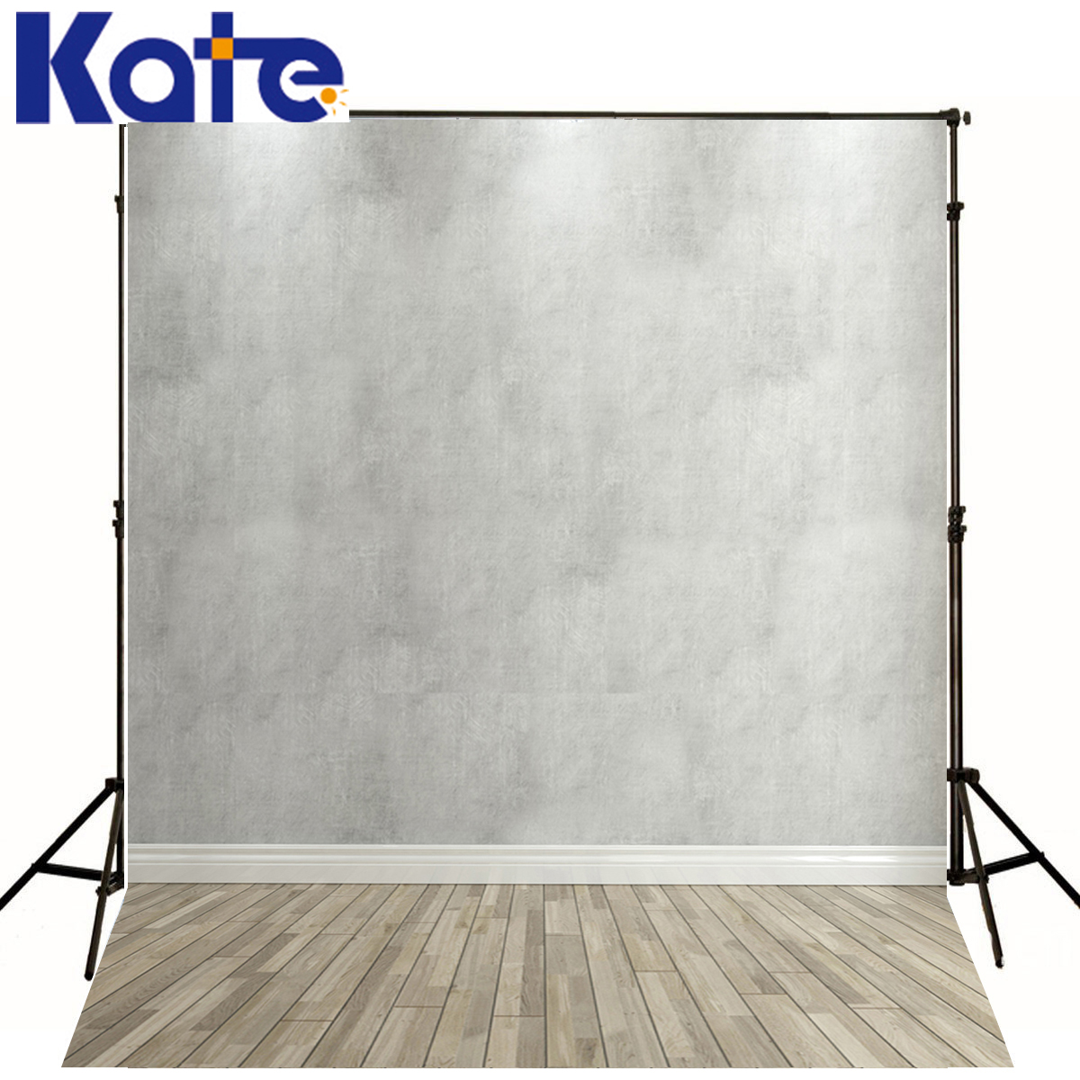 цена на Kate Wood Background Photography Solid White Wall Backdrop Photo Wood Floor Photocall Backgrounds For Photo Studio J01676
