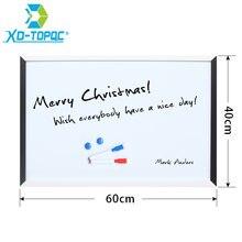 Xindi Новинка 40*60 см Магнитная белая доска mdf черная и рамка