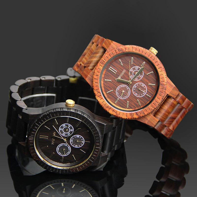 ФОТО Luxury Lovers Couple Watches Men Analog Date Movement Life Waterproof Women Wooden Quartz Wristwatch Montre Homme with Gift Box