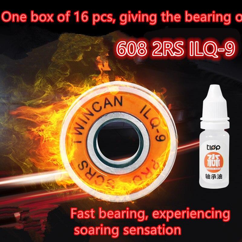 Thrust Bearing Hot Free Shipping 608 2rs 608rs Ilq-9 Ilq11 Miniature Ball Radial Bearings Good Quality Skating Abec-9 8*22*7mm free shipping 20pcs mr83zz miniature bearings ball bearing 3x8x3 mm 3 8 3 mr83 zz radial shaft