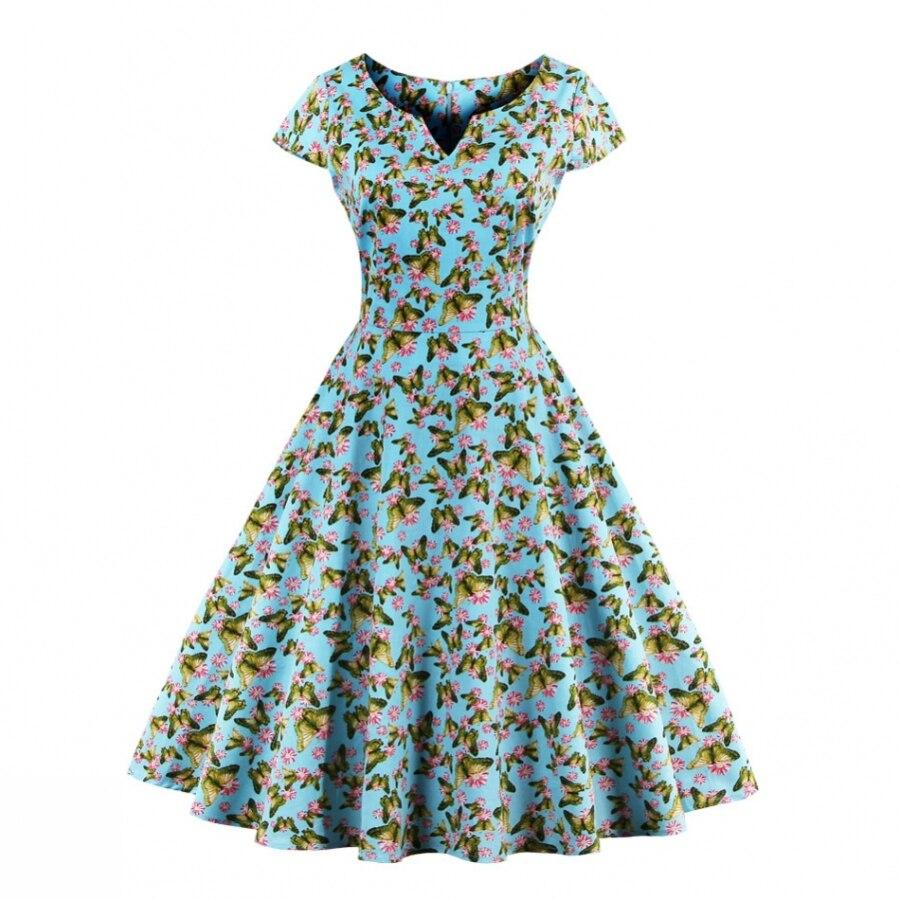 iiiher Brand Dresses Women Elegant Vintage Tunic Gorgeous Floral ...