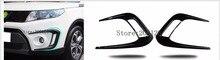2 PZ Car Styling ABS plastica anteriore della luce di nebbia adesivo Decorativo Sticker copertura di caso Per suzuki vitara 2016 2017 2018 2019