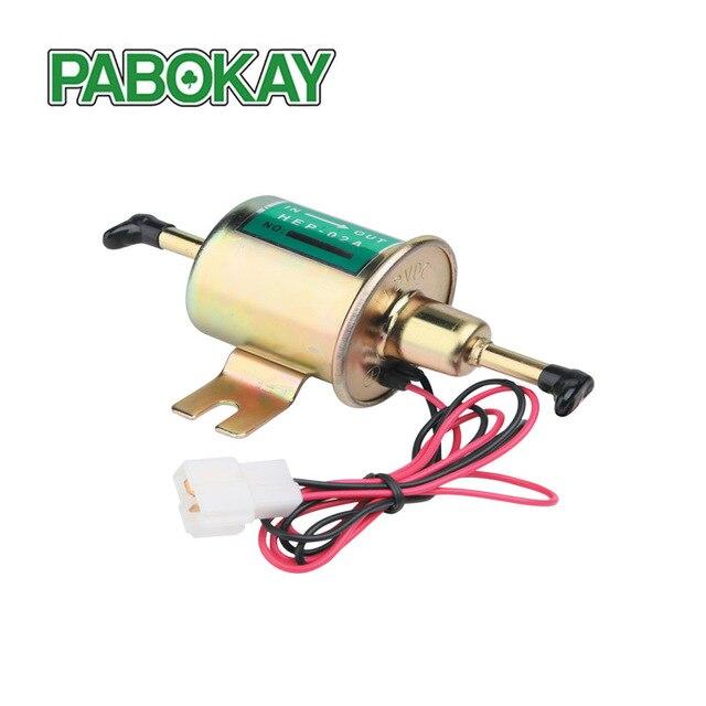 Universal diesel gasolina 12v bomba de combustível elétrica HEP 02A baixa pressão para a maioria do carburador carro motocicleta atv hep02a