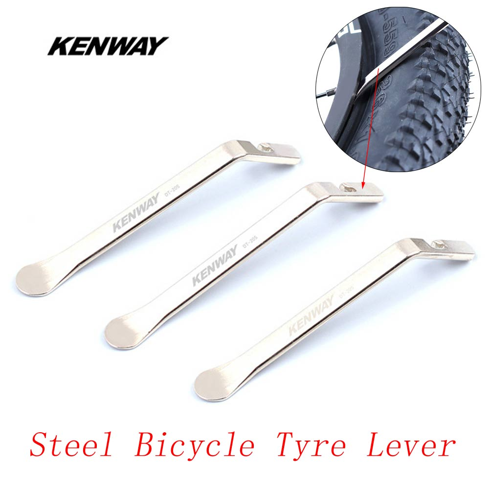 KENWAY 3 pcs Steel Bicycle Tyre Lever Opener Labor Saving MTB Road Bike  Tire Pry Repair Tool Kit Ultralight Cycling Accessories -in Bicycle Repair