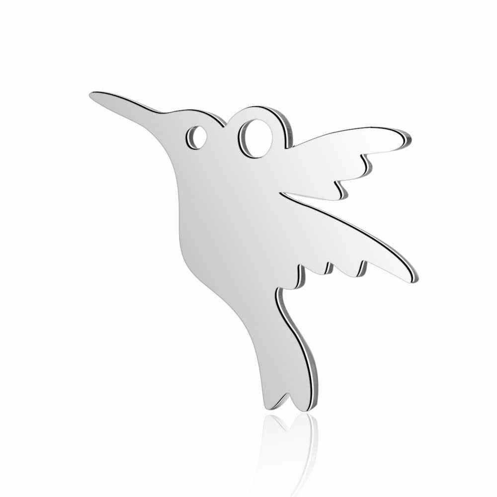 10 יח'\חבילה 316L נירוסטה קסמי לב ילד אני אוהב אמא ציפור חלול קסמי תליוני תכשיטים ביצוע DIY בעבודת יד