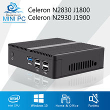 Factory Mini PC X30 2830 J1800 2930 J1900 HDMI+VGA, USB3.0, j1900 mini pc linux mini computer Metal Fanless, win7, win8, LlINUX