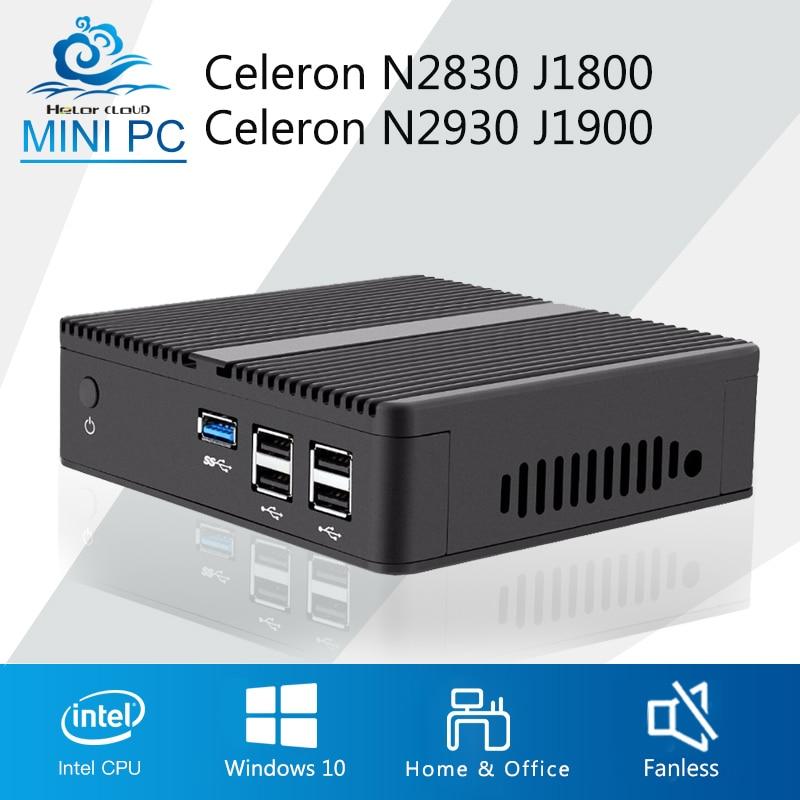 Mini PC Celeron J1900 N2930 Quad Core Windows 7 Celeron J1800 N2830 NUC Barebone Mini Computer Desktop Office DDR3 RAM HTPC HDMI