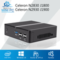 Mini PC Celeron J1900 N2930 Quad Core Windows 7 Celeron J1800 N2830 NUC Barebone Mini Computer Desktop Office DDR3 RAM HTPC HDMI