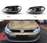 Car LED Projection Xenon HID Headlight For Volkswagen Golf 7 2013 2017 UP 7.5 Style DRL Lens Double Beam
