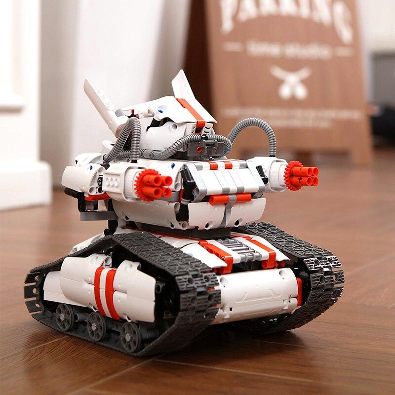 Puzzle assemblage programmation Robot chenille méca Version de jouet électrique intelligent