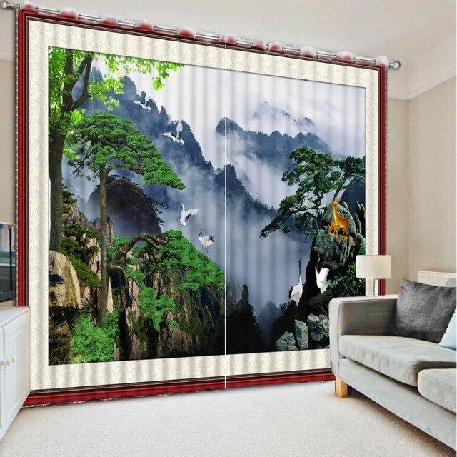 NoEnName_Null 3D Druck Vorhänge Schöne Lebensechte HD 3D Vorhänge Schlafzimmer  Dekoration Wohnzimmer Cortinas CL DLM015
