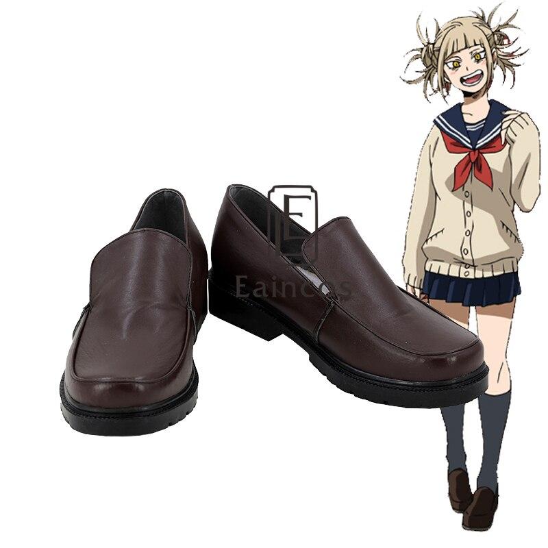 Anime Boku no Hero Academia Himiko Toga Cross My Body Cosplay Party Shoes Custom Made