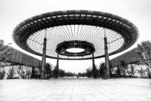 Peking architektur schwarz weiß wohnzimmer decor holzrahmen stoff ...