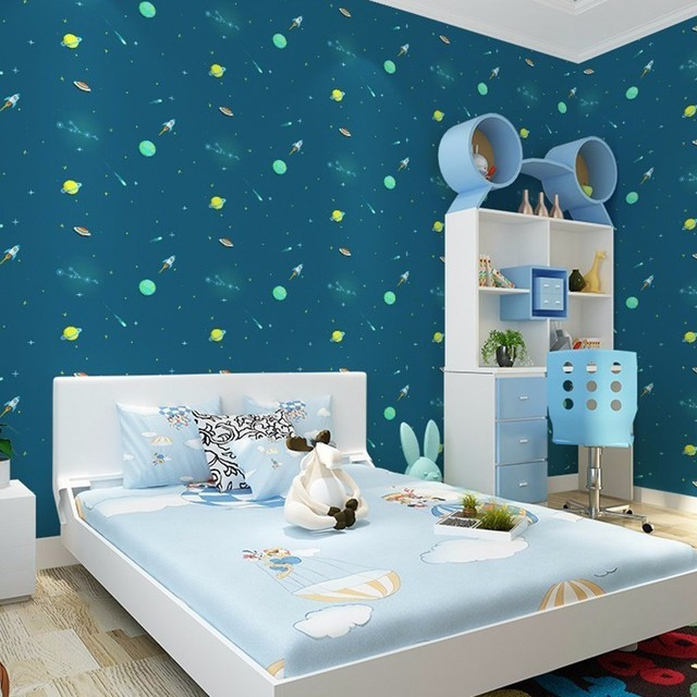 1 Roll TV Bedroom Wall Decorative Stickers Wall Paper Art Home ...