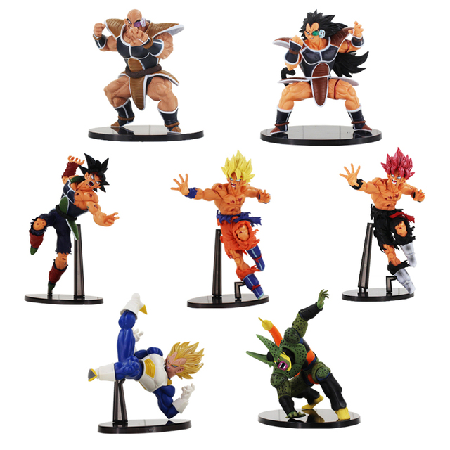 Scultures Big Dragon Ball Z Son Goku Burdock Vegeta Cell Second Mode Raditz Nappa Figure Toy DBZ Model Dolls