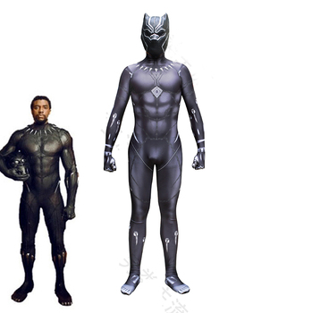HOT Marvel Movie Black Panther Cosplay Costumes Adult  Black Halloween Carnival Jumpsuits 3D Printed Bodysuit Superhero Zentai