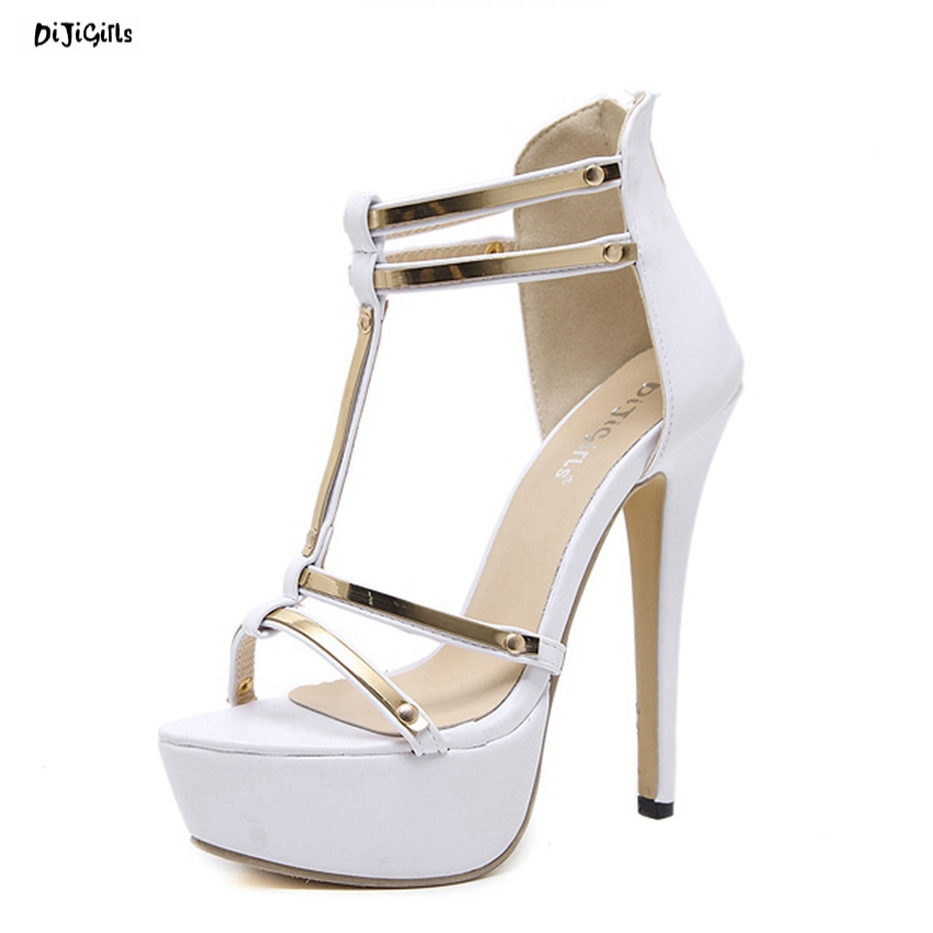 Women Fashion Platform Sandals Sexy High Heels Wedding Bridal Party Shoes Woman Pumps Stiletto for Summer ZG368-99 phyanic bling glitter high heels 2017 silver wedding shoes woman summer platform women sandals sexy casual pumps phy4901