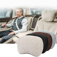 1PCS Car Neck Pillow Memory Foam Massage Car Headrest Pillow For HONDA VW BMW Mercedes Travesseiro Car Styling Accessories