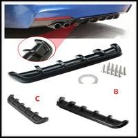 ABS Car Rear Shark Fin Style Curved Bumper Lip Diffuser for Ford Focus MK2 MK3 MK4 kuga Escape Fiesta Ecosport Mondeo Fusion