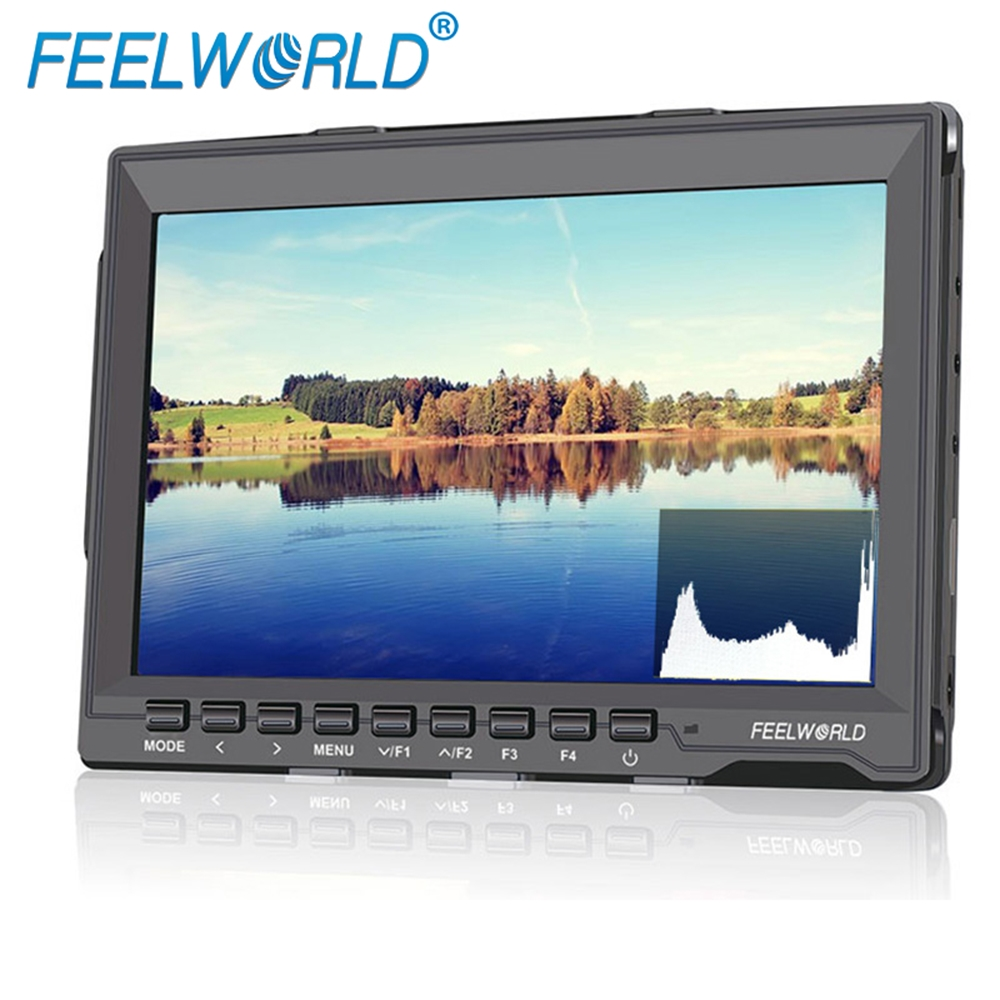Feelworld FW759P 7 Inch IPS Camera Field Monitor with Peaking Focus Histogram False Colors Exposure 7 LCD Monitor for DSLRFeelworld FW759P 7 Inch IPS Camera Field Monitor with Peaking Focus Histogram False Colors Exposure 7 LCD Monitor for DSLR