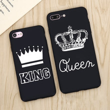 KING Queen Phone Case for iPhone 6 7 Plus Fashion Lover Matte Ultra thin Soft Full Cover for iPhone 5s 5 6 6s 8 Plus Case Funda(China)