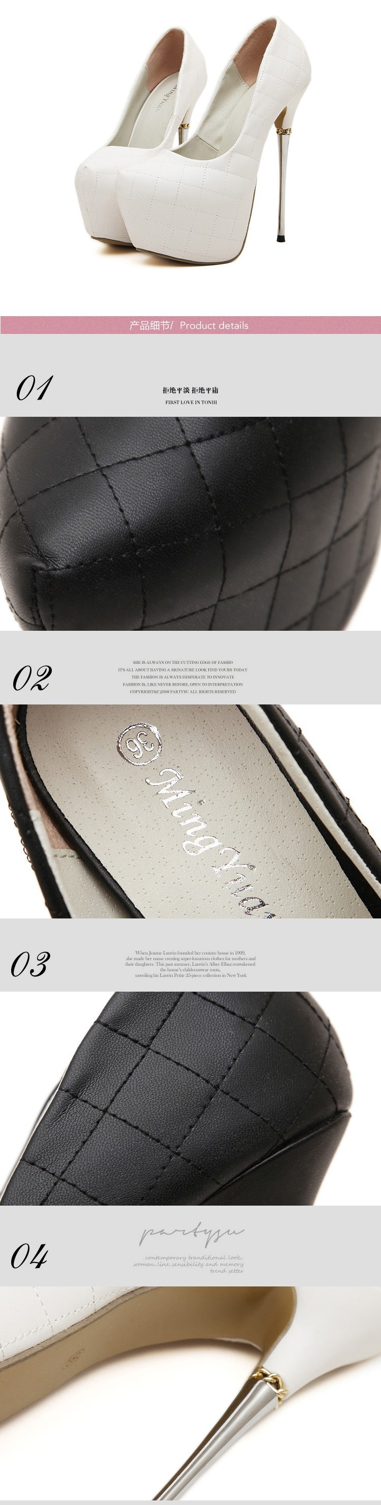 womens high heels shoes 2016 white pumps women party shoes platform ... cb66b7a4aef7