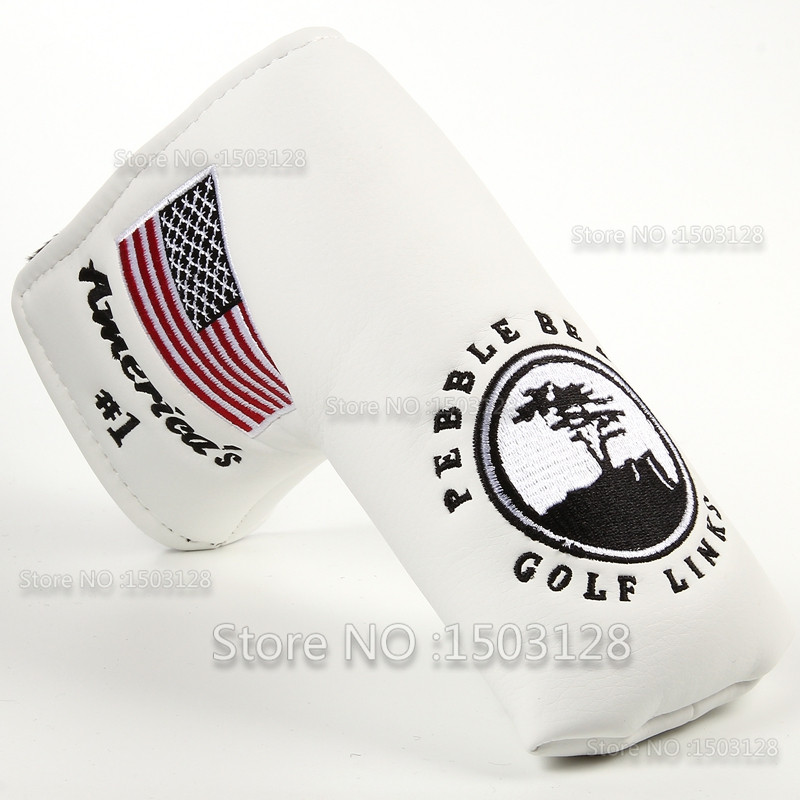 branco golf putter capa headcover encerramento para