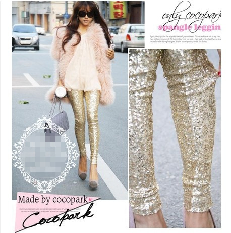 Online Shop 2015 's newest gold sparkle leggings plus size ...