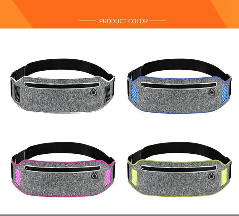 Professional Running Waist Pouch Belt Sport Belt Mobile Phone Men Women With Hidden Pouch Gym Bags Running Belt Waist Pack (17)