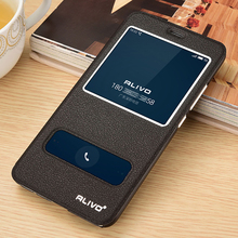 Leather Case For Meizu M5/Meizu M5S/Meizu M6 Phone High Quality With Window View Protector Flip Case