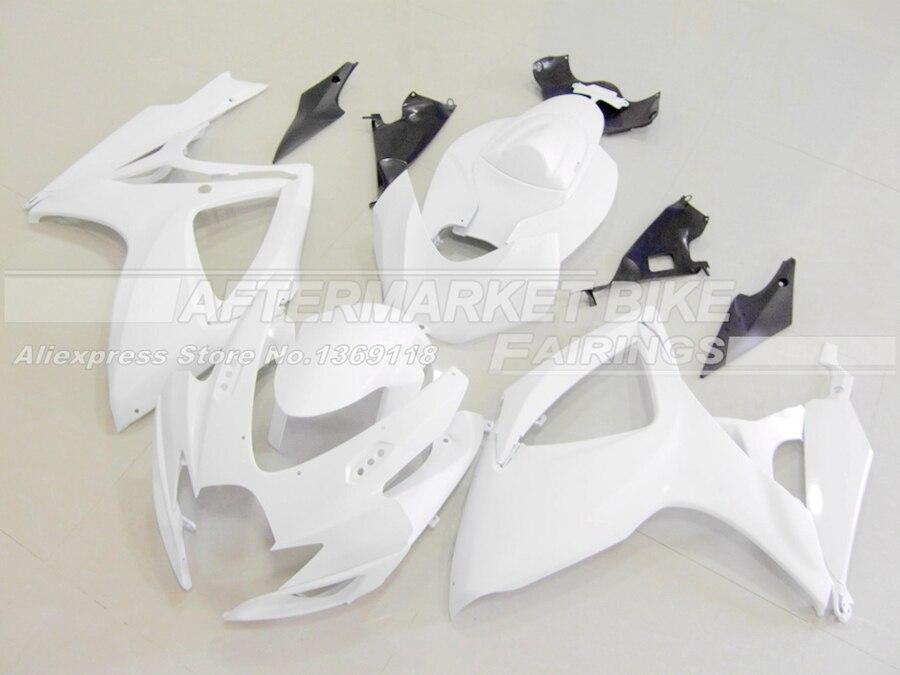 Выполните мотоцикл Неокрашенный ABS обтекатель комплект для SUZUKI GSXR750 GSXR600 2006 2007 K6 литья под давлением пустой кузов