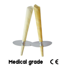 42 pairs=84 pcs,CE qualified beewax ear candling candle,burning smoke free pesticide free,big ear waxing cone,ear care with disc