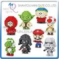 Mini Qute LINKGO historieta del animado Super Mario star wars South Park bloque de diamante bloque de construcción de plástico figuras juguetes educativos