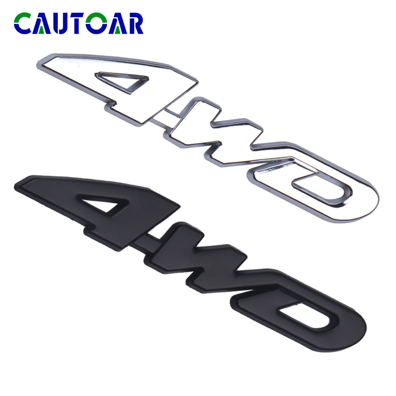 Car Styling Tail Rear Side Metal 4x4 RC Car 4WD Sticker 3D Chrome Badge Emblem Decal Auto Decor For SUV Rear Trunk Off-road