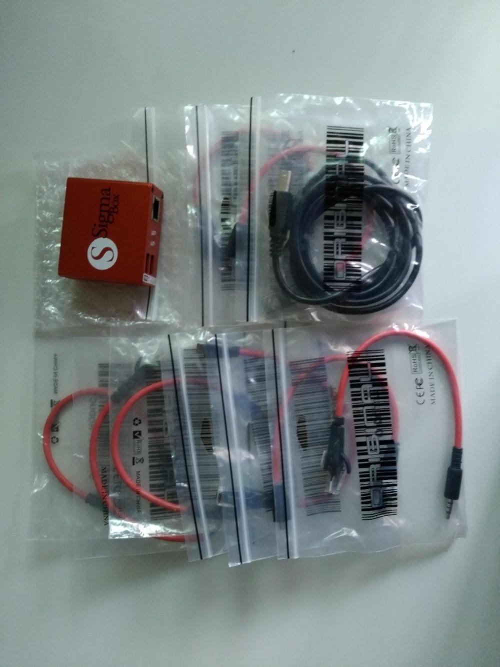 Gsmjustoncct Original Sigma Box Sigmabox ensemble complet pour téléphone Mobile déverrouillage & Flash & réparation pour chine téléphone Mobile/Nokia + 9 câble - 2